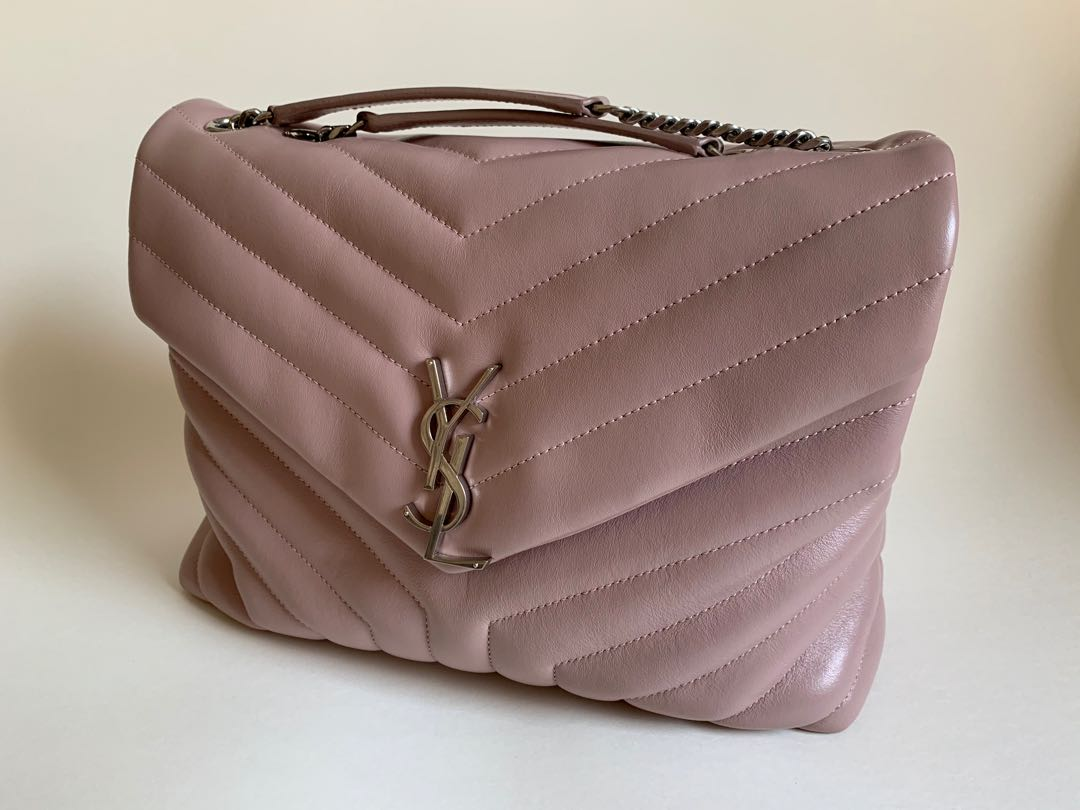 989cfb68e4 YSL Loulou Bag (Medium)Baby Pink - 100% Genuine 99% new, Luxury, Bags &  Wallets on Carousell