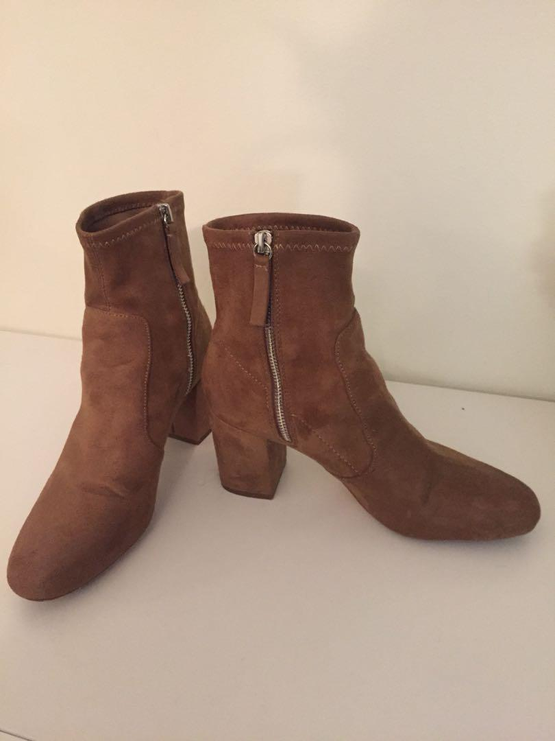 Zara camel sock boots
