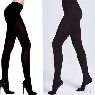 Plus Size Opaque Black Tights Leggings Or Stockings 200 Denier L-XL