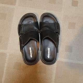 Men's Black Obermain Sandals Size 43