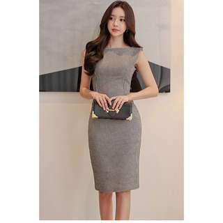 BN lexilyla check sheath dress