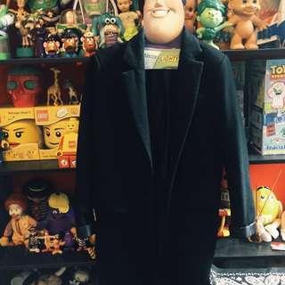 ✌︎近全新保暖毛料西裝長大衣外套