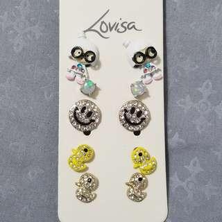 5 Pairs Lovisa Earrings