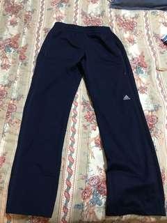 Adidas track pants navy blue