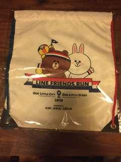 line friends run 索繩背包索袋