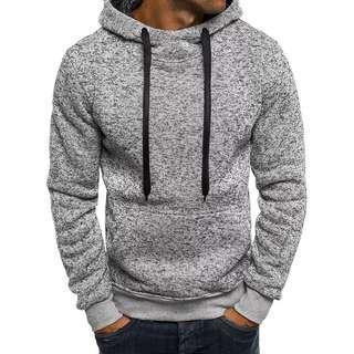 Men Sweatshirt Hoodie Solid Hip Hop Coat Pullover / Jaket