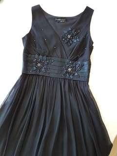 BCBGMAXAZRIA 100% Pure Silk Little Black Dress