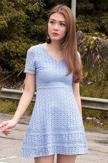 b847eb960c50 BN Lechic Catcher in the Rye Eyelet Dress Periwinkle