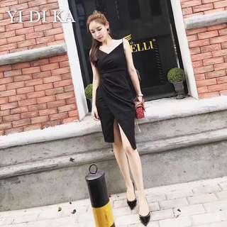 BNWT black slit dress
