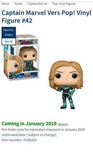 Captain Marvel Vers Funko Pop
