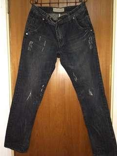 Men Black Jeans Pants