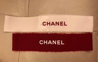 Chanel Xmas Packing Ribbon 紅色 白色 包裝絲帶