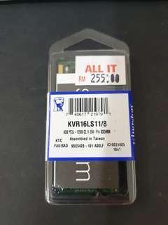 Kingston DDR3L 8GB Laptop SODIMM 1600Mhz