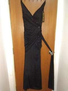Black Evening Dress frills