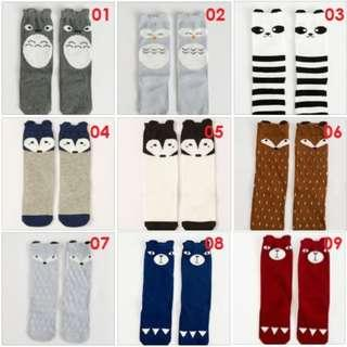 $5 Buy-2-Free-1 Christmas Gift Cute Cheap New Knee Length High Socks For Baby Toddlers Kids Preschoolers