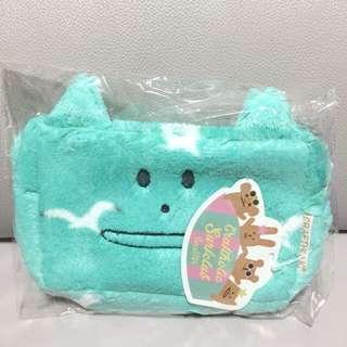 全新! 日本Craftholic 奸夫 Tiffany Blue 淺綠色 化妝袋 小袋 pouch