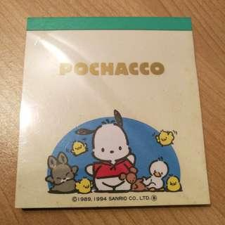 Sanrio Pochacco PC狗 memo pad Made in Japan