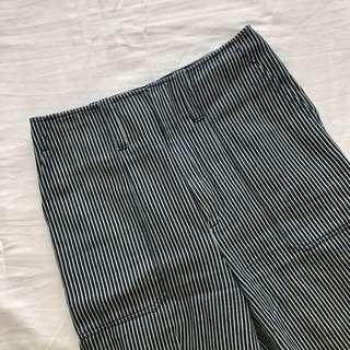 Club Monaco Striped Wide-Leg Pant (Size 00)
