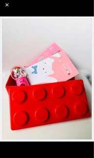 Birthday goodie bags - LEGO shaped