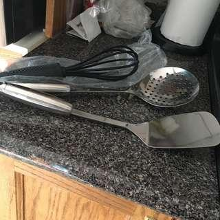 2 barbecue utensils and 1 whisk Brand New Never used