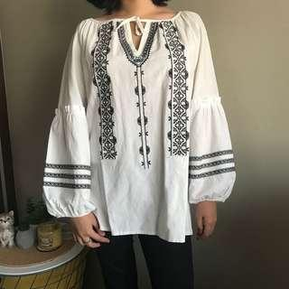 white boho top/blouse