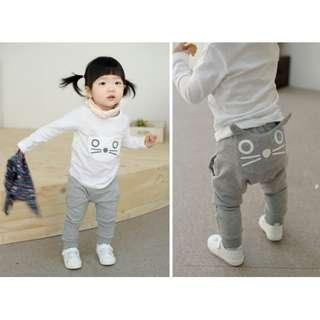 $15 Cute New Unisex Boy Boys Girl Girls Baby Toddlers Preschoolers Kids Cat Thick Long Pants