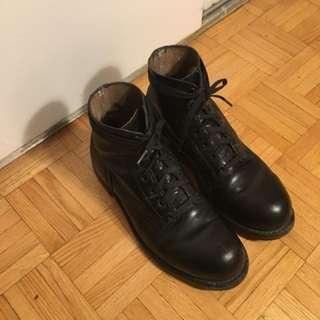 Vintage Leather Combat Boots