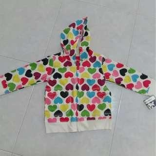 $12 Christmas Gift Brand New Sprockets Hooded Jacket With Lovely Heart Shapes Design For 24 Months / 2 Years Old