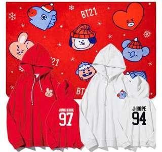 BTS Bt21 Christmas Hoodie