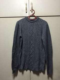 Grey wool sweater