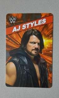 Limited Edition WWE AJ Styles Allen Neal Jones Card