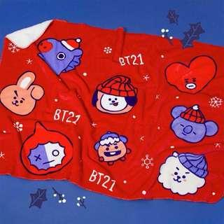 BT21 Christmas Blanket