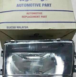 Old Saga head lamp kaca
