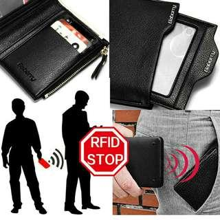OnHand Best SELLER MENS BABORRY RFID protection zipper Wallet