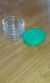 Set of 4 Tupperware Crystal Bowls