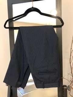 Uniqlo striped navy dress pants