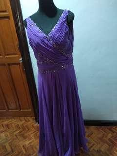 Violet Flowy Gown