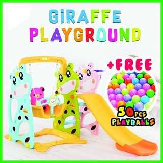 💥EXTENDED VERSION GIRAFFE PLAYGROUND + FREE 50pcs PLAYBALL💥