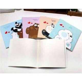We Bare Bears Sketch Pad Drawing Notepad