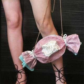 Candy shape handbag 2018 NEW personalized satchel girls sweet chain Crossbody shoulder bag ladies PVC party clutch bag Purses