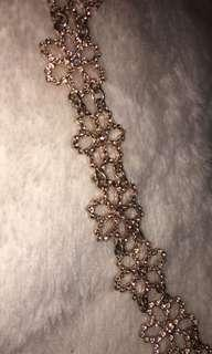 Rose Gold Flower Choker