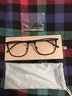 Thin Black-framed Rectangular Glasses