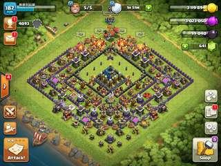 Clash Of Clans Account Townhall 12 Level 187