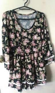 Sexy Floral Vintage dress
