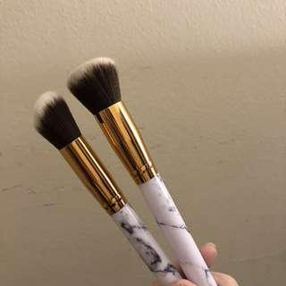 Marble Makeup Brushes (2)
