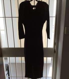 Hong kong Bissi black long sleeve skirt- stretchable