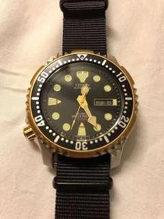 Citizen pro master automatic watch gold