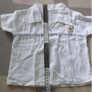 White Baby Shirt with Collar (12months)