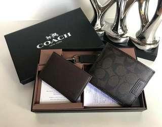 Set! Coach mens wallet