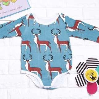 🚚 Instock - deer romper, baby infant toddler girl boy